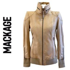 MACKAGE cream coloured genuine leather jacket